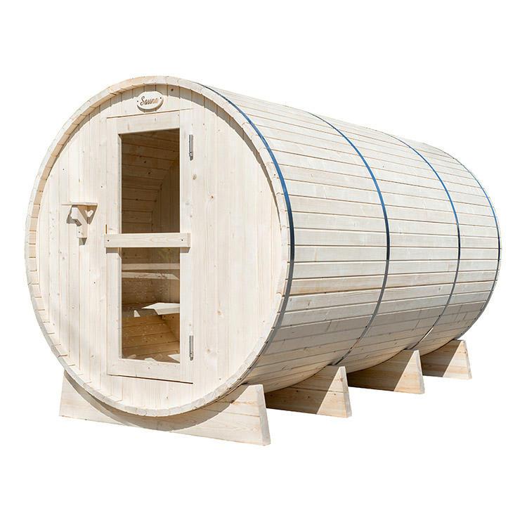 Round Spruce Barrel Sauna