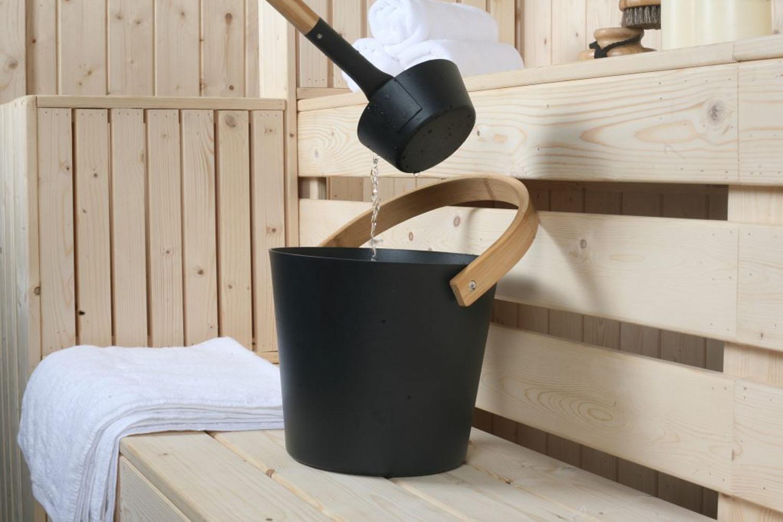 aluminum sauna bucket