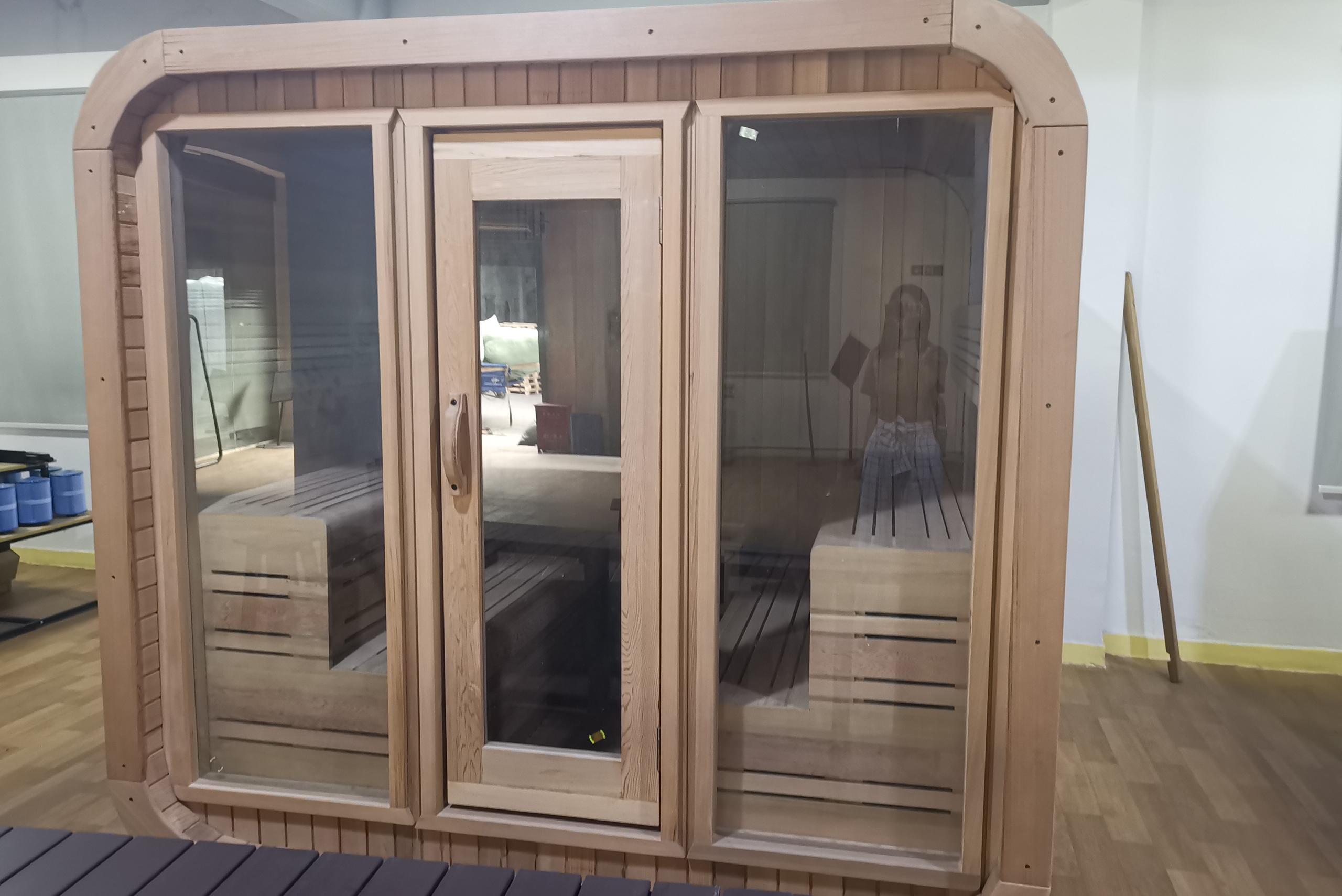 cedar sauna room