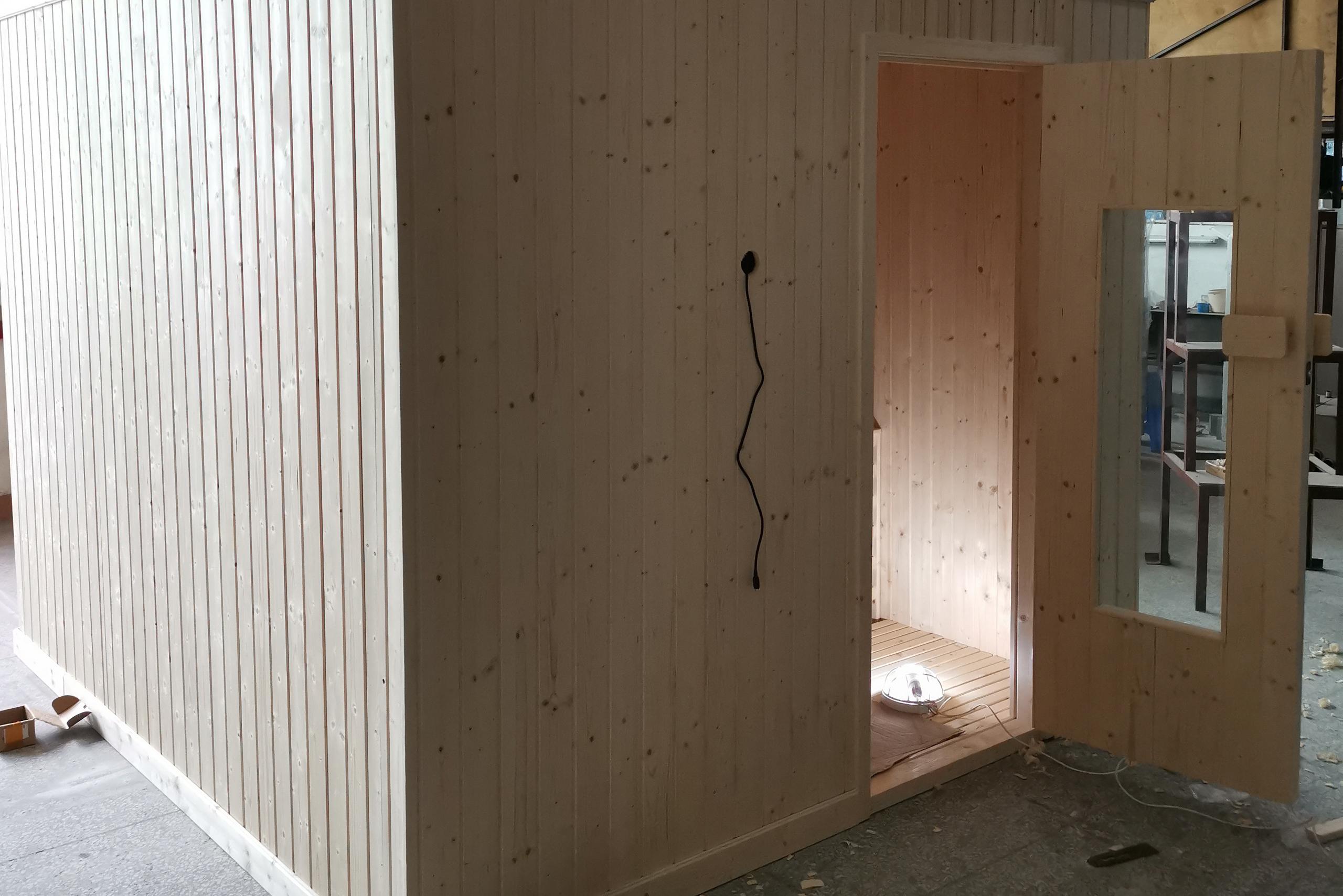 finish pine sauna room