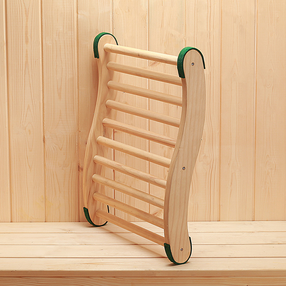 sauna back rest