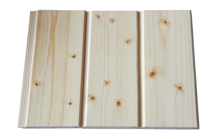 finish pine wall board