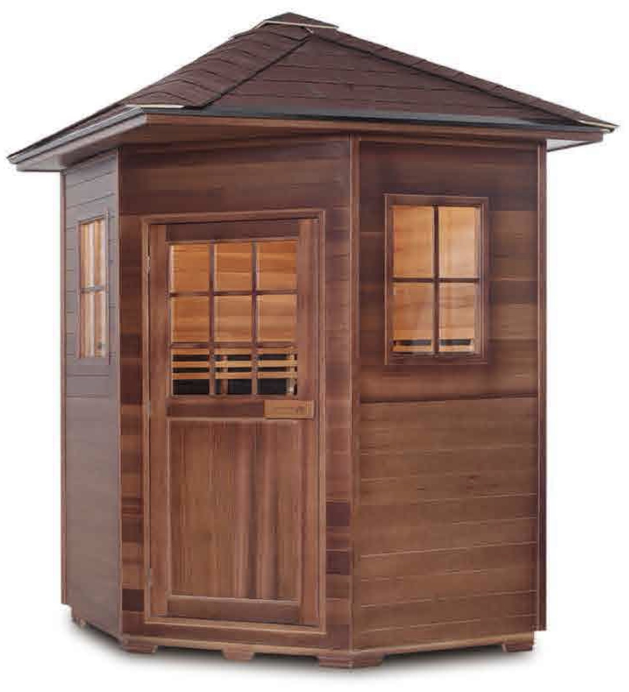 red cedar far infrared outdoor sauna room