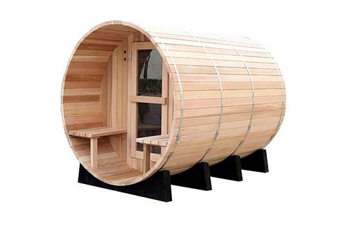 Cedar Barrel Sauna with Porch