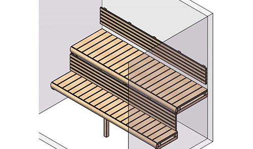 sauna room bench