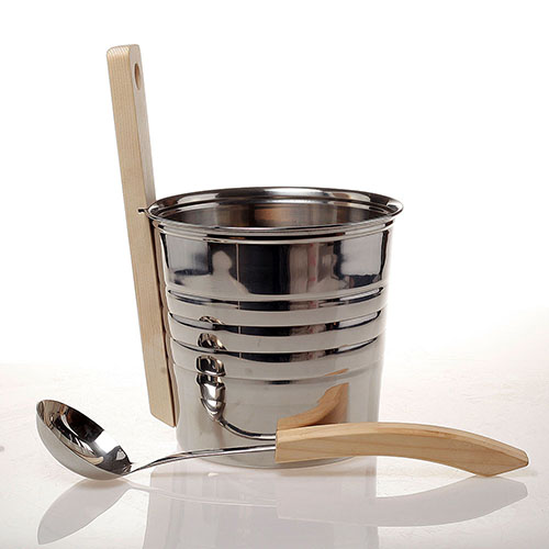 stainless steel sauna bucket W-B072