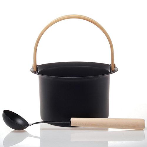 stainless steel sauna bucket W-B094