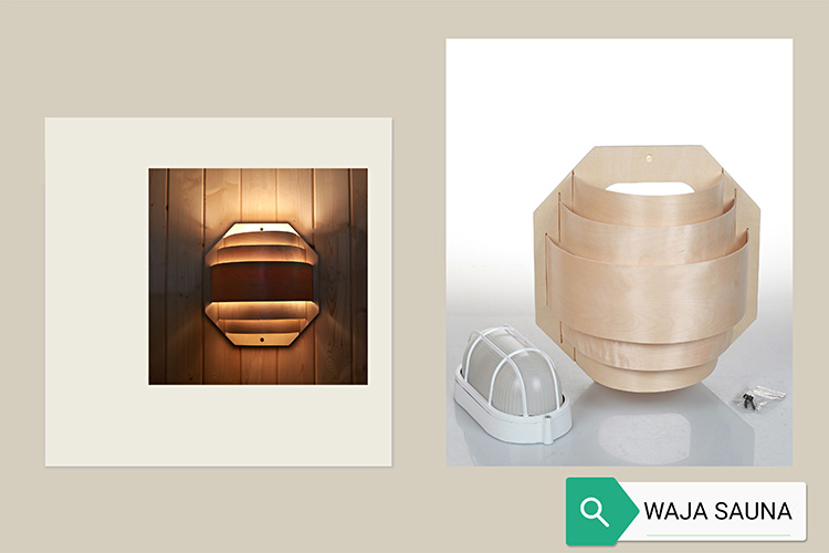 sauna light and cover