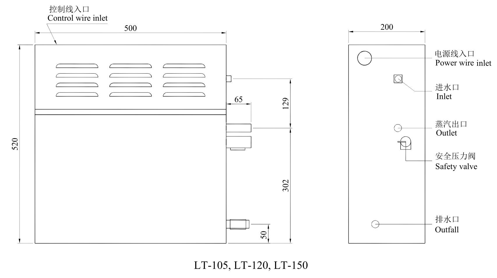 LT-105, LT-120, LT-150