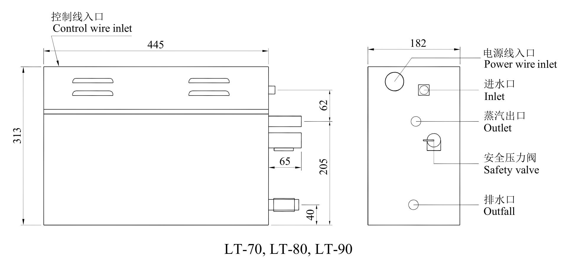 LT-70, LT-80, LT-90
