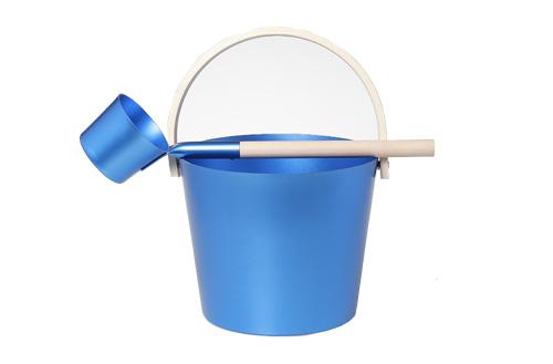 alu. sauna bucket blue color