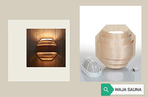 sauna light with cover